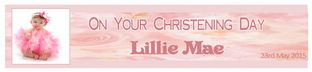 Personalised Girl Christening Banner Design 2